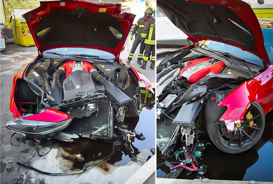 Автомойщик разбил Ferrari 812 Superfast итальянского футболиста Новости
