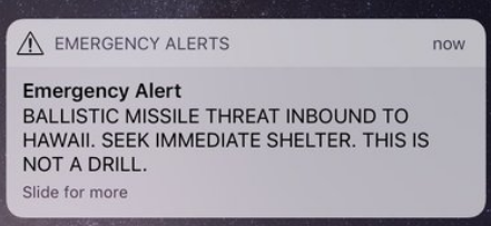 Hawaiians Rattled by False Missile Alert