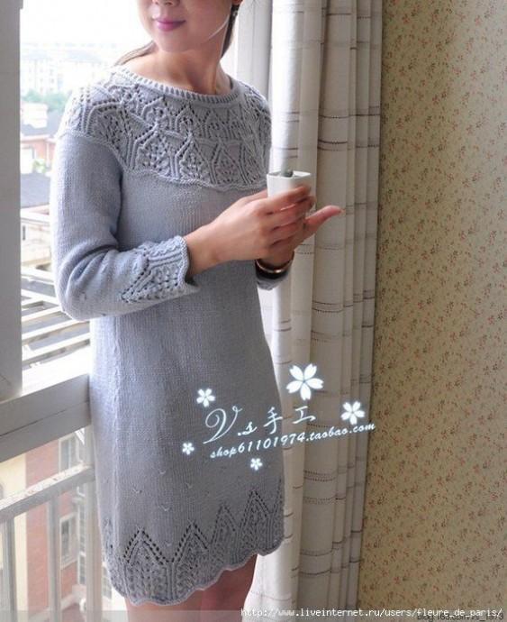 Изысканное вязаное платье