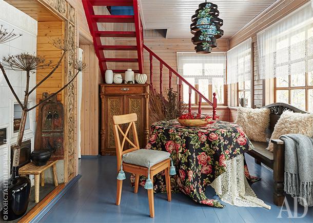 Русский домик в Калужской области, 110 м²