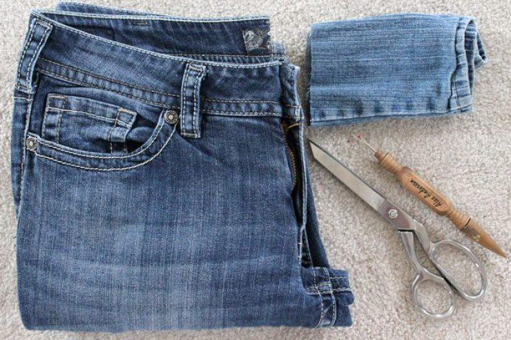 Как увеличить мужские джинсы в поясе