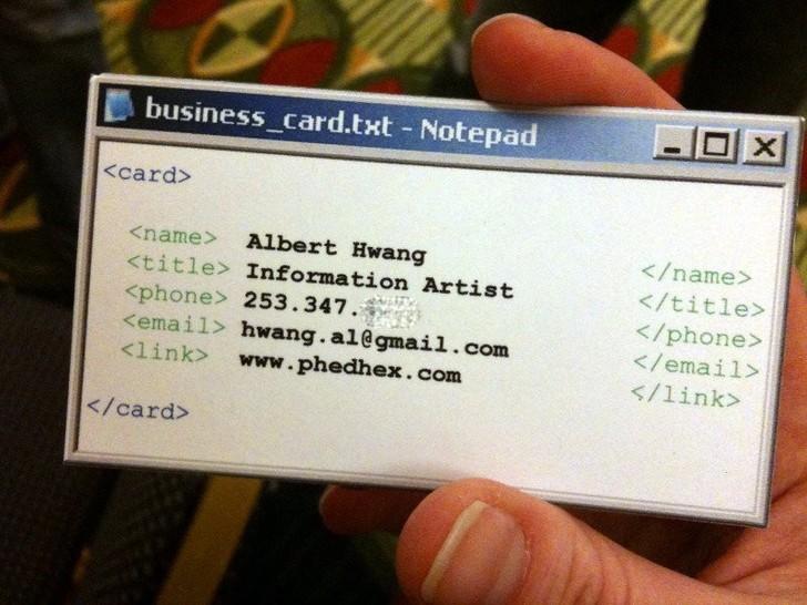 Оригинальные визитки, сделавшие своих владельцев знаменитыми