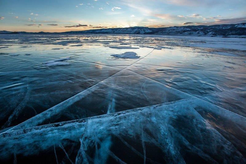 Байкальский закат Зимняя сказка, байкал, зима, красота, лед, снег, фото, фоторепортаж