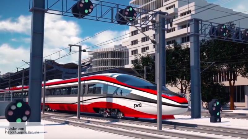 РЖД представили концепт высокоскоростного поезда