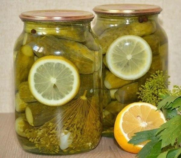 Маринованные огурчики с лимо…