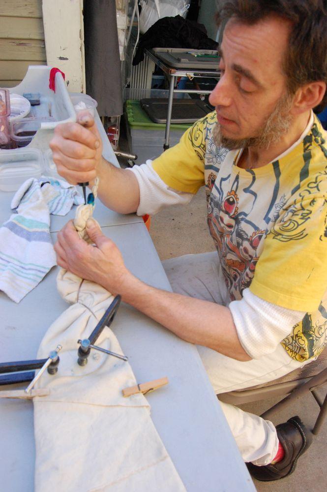 Shibori — метод крашения ткани