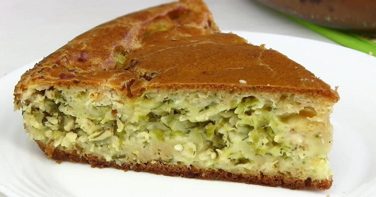 Диет капустный пирог