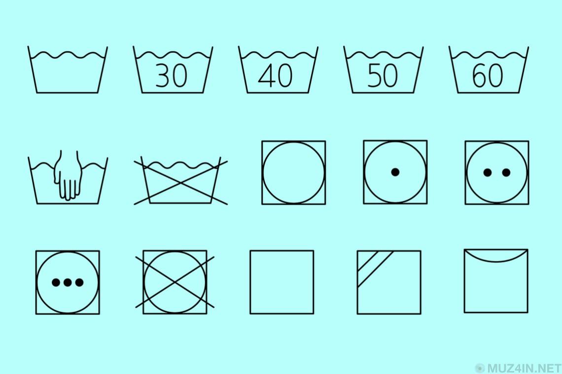 Символы, которые вам нужно знать, чтобы случайно не испортить свою любимую одежду