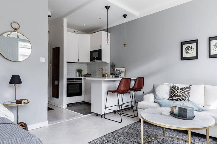 10 примеров стильных небольших квартир