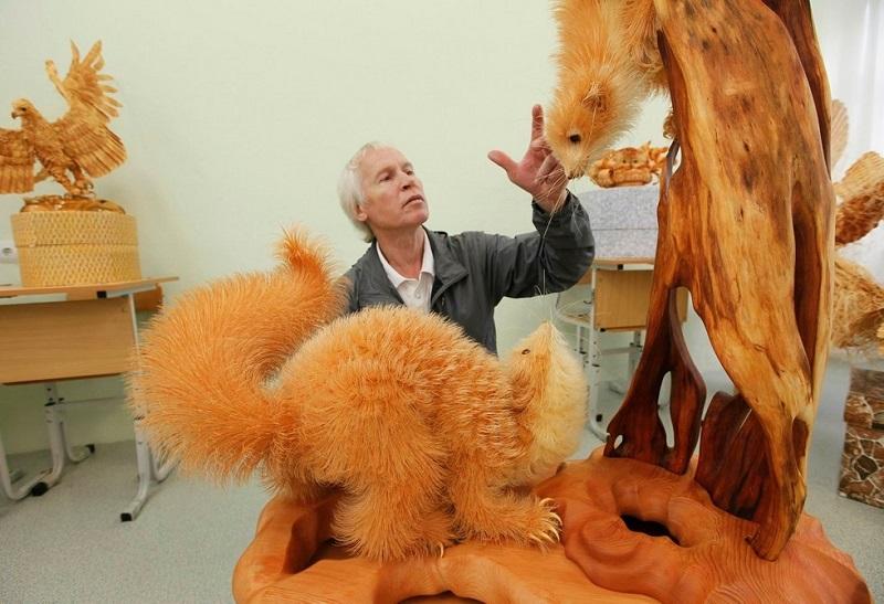 Удивительные скульптуры из стружки Сергея Бобкова вдохновляемся,мастерство,творчество