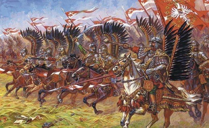 Польские крылатые гусары доспехи, рыцари, средневековье