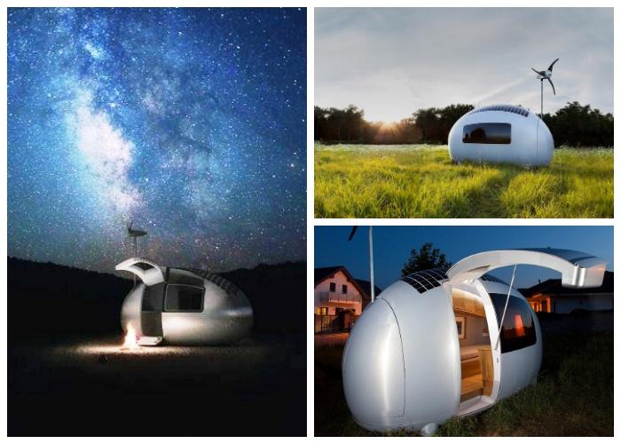 Этот самодостаточный микро-дом можно установить в любом месте («Ecocapsule», Словакия).