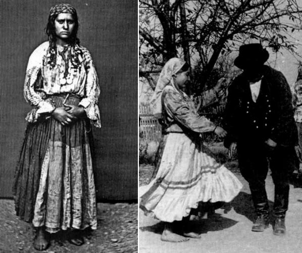 Национальный цыганский костюм в разных странах
