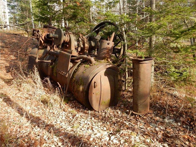 Путешественник нашел в тайге под Красноярском старинную паровую машину ммашина, пар, паровоз