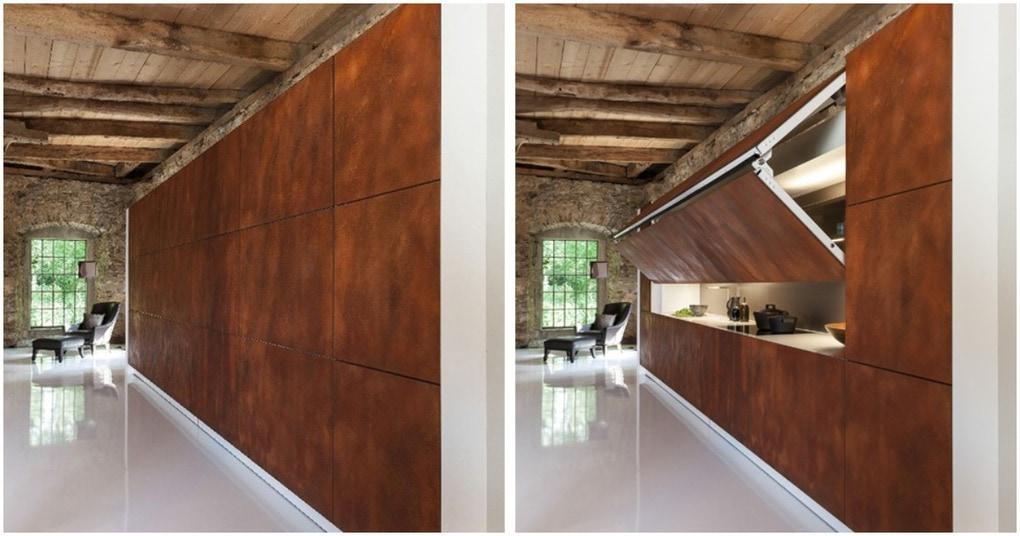 Дизайнеры изобрели невидимую кухню! Идеально для квартир-студий