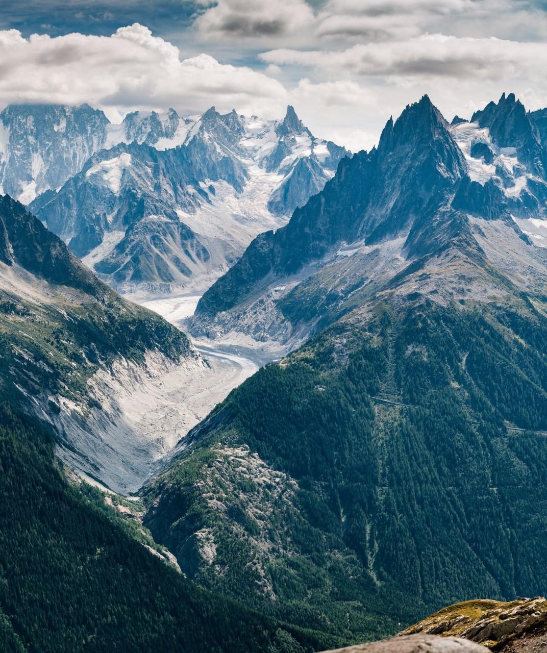 Монблан, Французские Альпы. Фотограф - Симон Фиталь, июль 2018 г. красивые места, красота, ледник, ледники, природа, путешественникам на заметку, туристу на заметку, фото природы