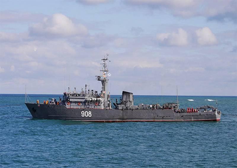 Морской тральщик ЧФ «Вице-адмирал Захарьин» вошёл в состав постоянного соединения ВМФ в Средиземном море