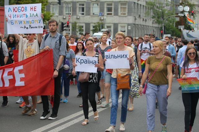 «Марш равенства» в Киеве продлился около 20 минут