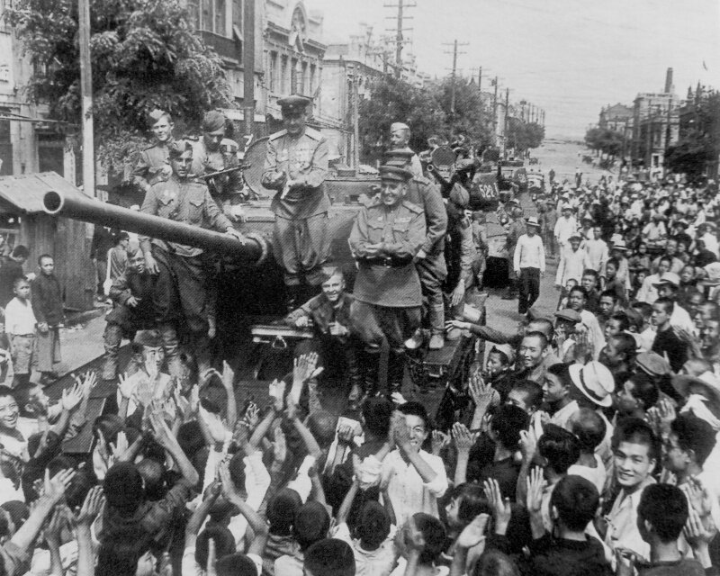Советско-японская война 1945г война, самураи., япония