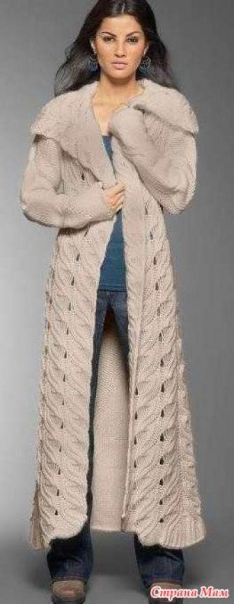 Как я связала подиумное пальто