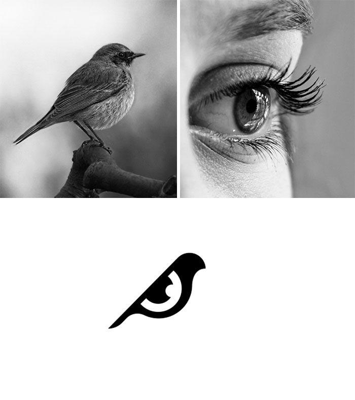 Дизайнер создаёт логотипы брендов, объединяя несколько вещей в одну