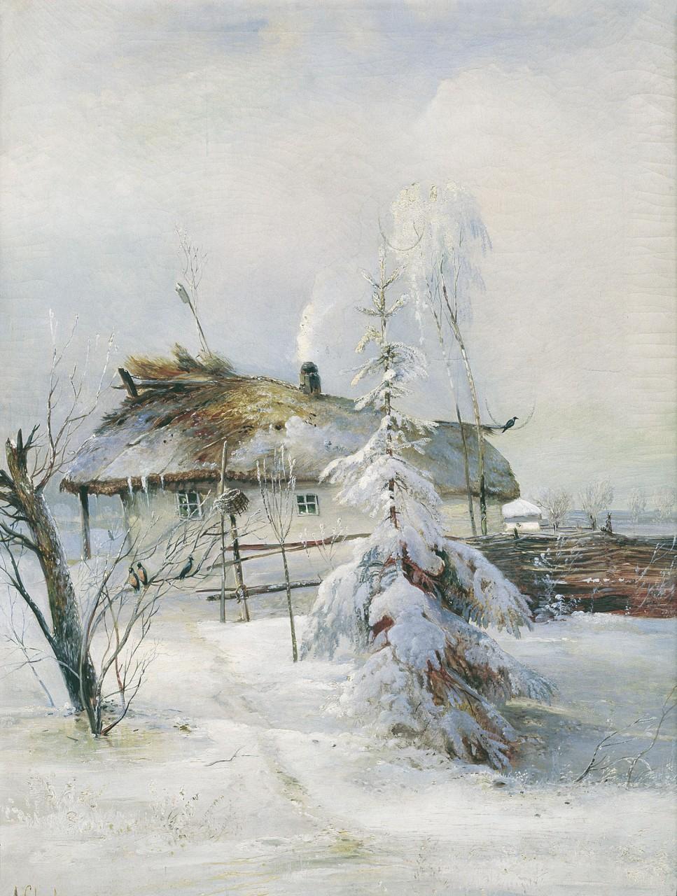 """Алексей Кондратьевич Саврасов. """"Зима"""". 1873 год."""