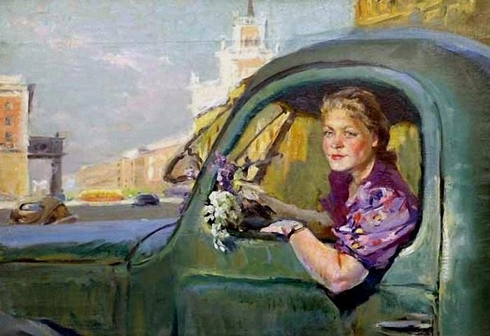 «Женщина за рулем». Автор: Поляков Валентин.
