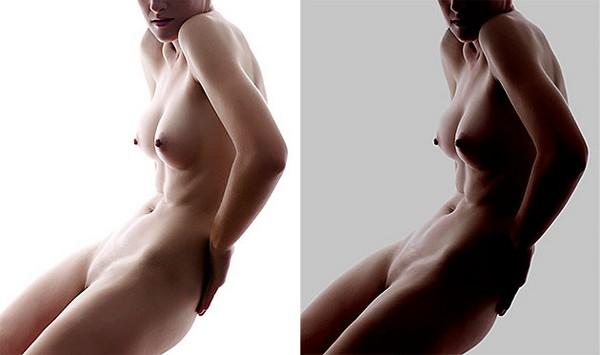 прямо съемка голого тела даже