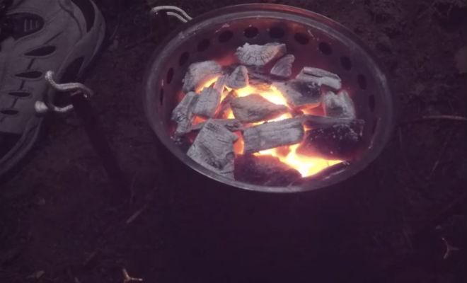 Обогреваем палатку без печи: лесник показал метод лес,обогрев,палатка,Пространство,устройство