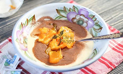 домашние кексы фото йогурта, какао и хурмы