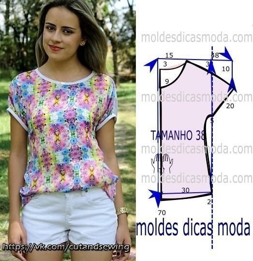 Простые выкройки летних блузок №5