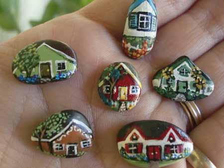 Поделки для сада: 10 домиков из камней вдохновляемся,декор