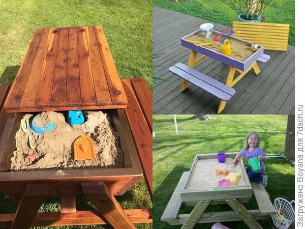 Песочница-стол. Фото с сайта ru.pinterest.com