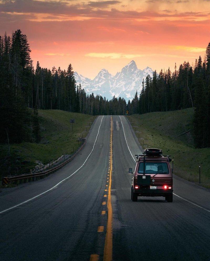 Картинки дорога в даль на машине с надписью