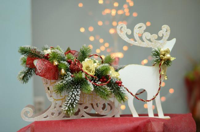 Хороший декор комнаты для новогодних праздников