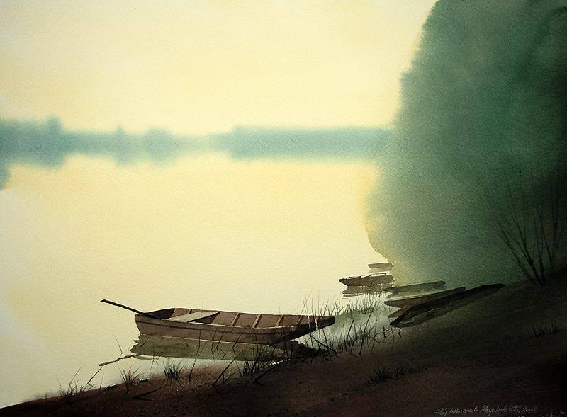 Поэт туманной тишины — романтические акварели Бранислава Марковича