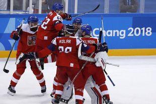 Сборная Чехии по хоккею вышла в полуфинал ОИ