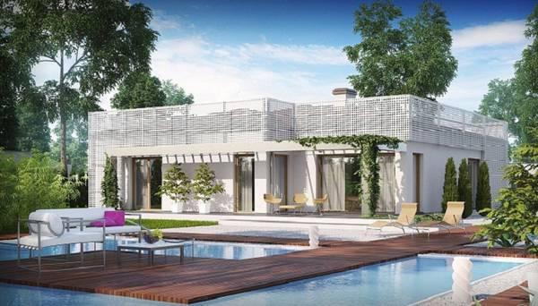 проекты красивых одноэтажных домов с эркером, фото 91
