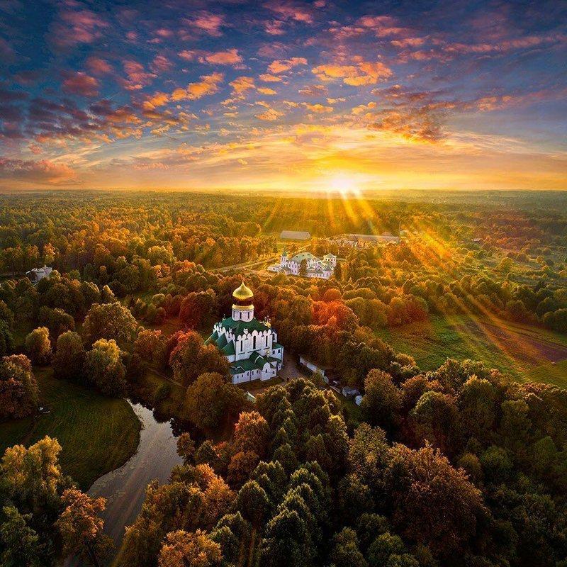 Осень в Пушкино, Санкт-Петербург горы, леса, природа, природа России, российская природа, россия