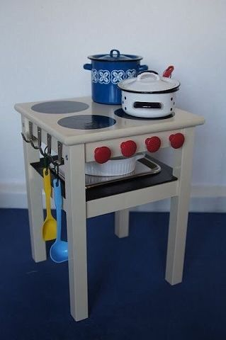 Детская кухня из стульчика. Такая задумка деткам точно понравится