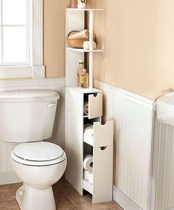 угловой шкафчик для хранения в ванной