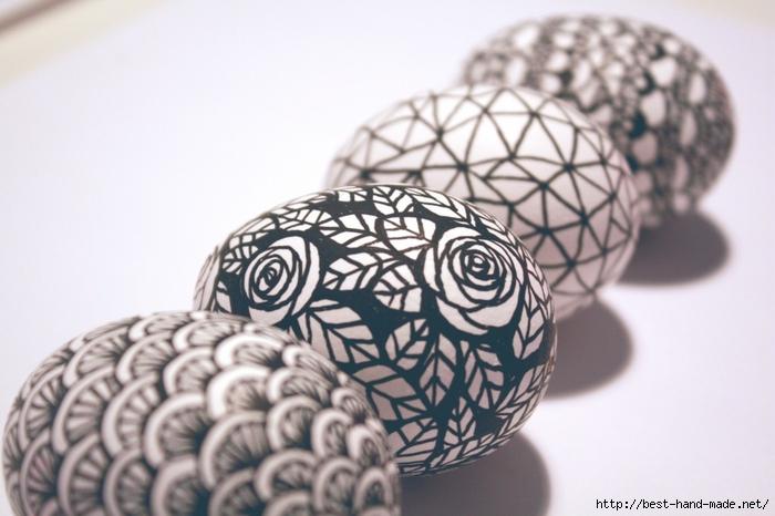 Роспись пасхальных яиц - дудлинг, зентангл. Идеи, мастер-классы