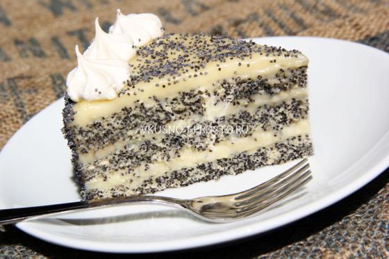 Творожно-маковый торт «Дачны…
