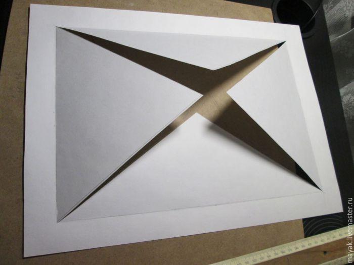 Как просто сделать паспарту для картины и панно