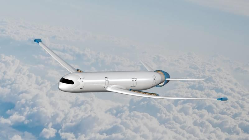 Концепт NASA / DLR eRay. Пассажирский самолёт отдалённого будущего