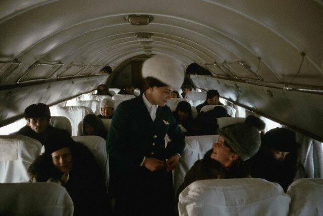 Стюардесса Тамара на Ил-14, рейс Иркутск – Якутск, 1966 СССР, история, фото