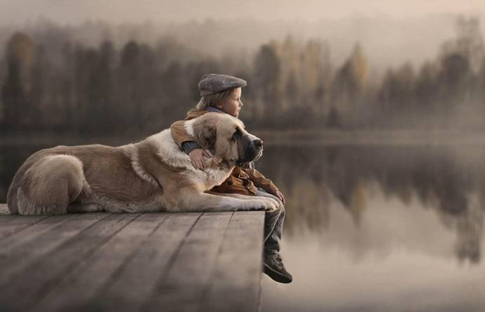 Нежные фото детей и животных от Елены Шумиловой