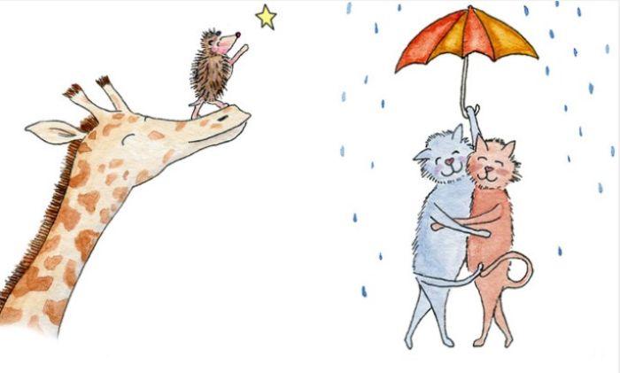 Любовь - это… : Открытки-иллюстрации о самом светлом чувстве на планете