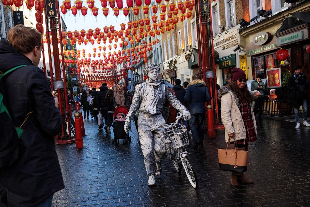 Праздник в китайском квартале в Лондоне