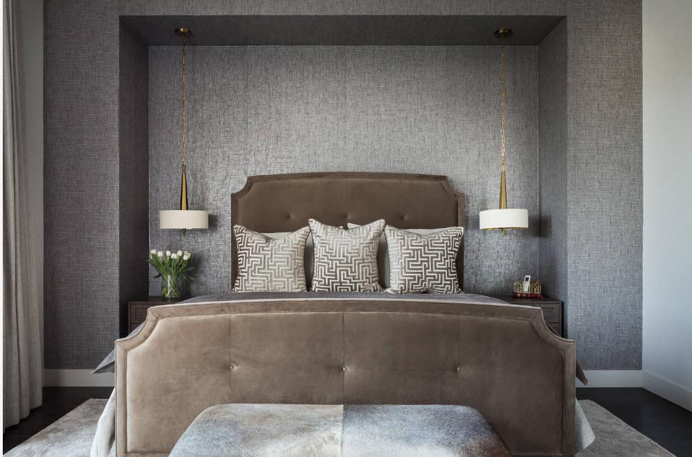 Оформление ниши для кровати